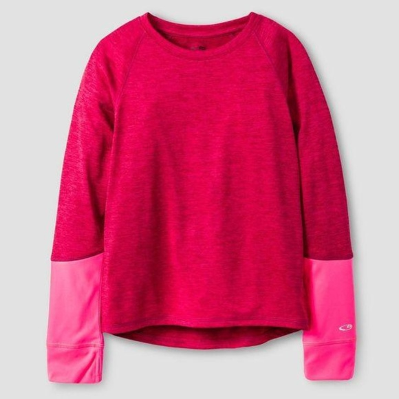 Champion Other - Champion K9031 Girls Long Sleeve Berry Pink